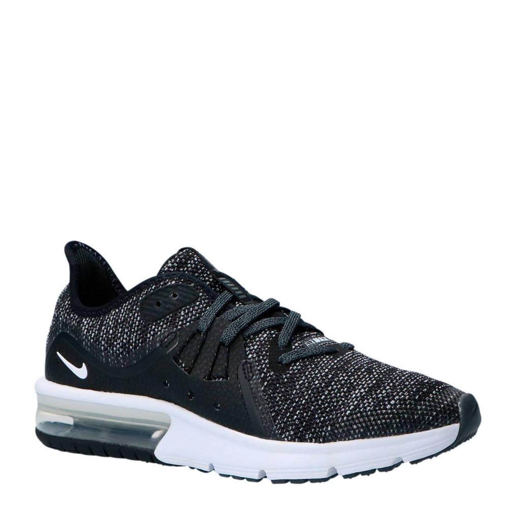 Nike  Air Max Sequent 3 (GS) zwart/wit, Zwart/wit