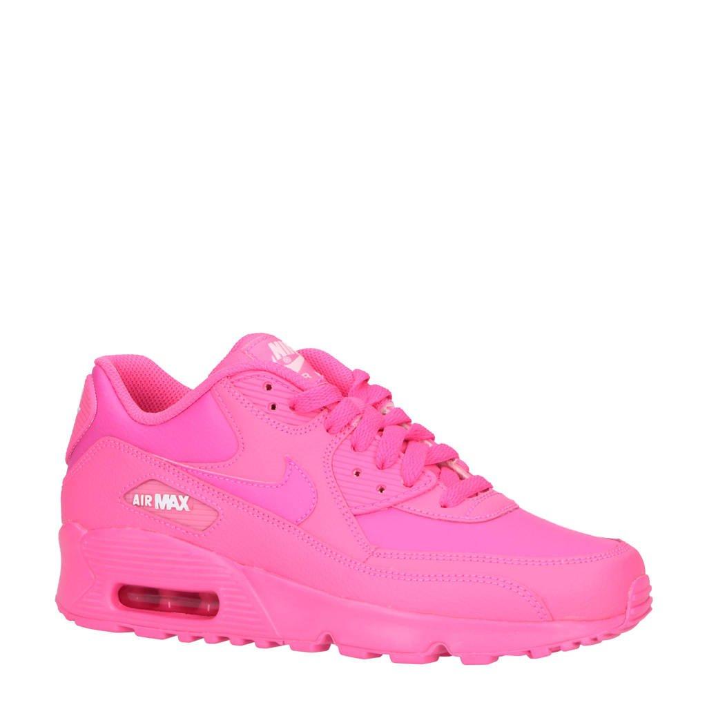 258b293cf44 Nike Air Max 90 leren sneakers fuchsia | wehkamp