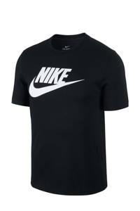 Nike   T-shirt, Zwart/wit