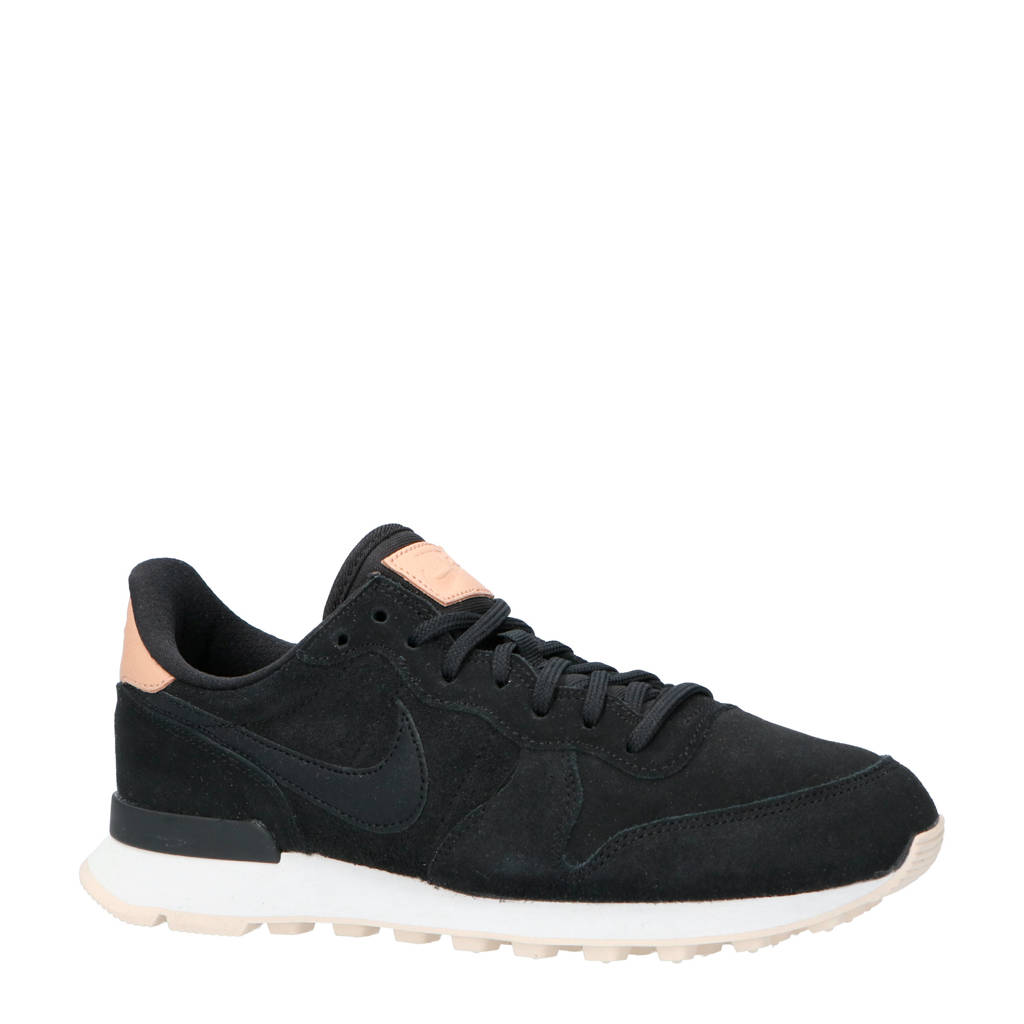 Nike  Internationalist PRM sneakers zwart, Zwart/roze
