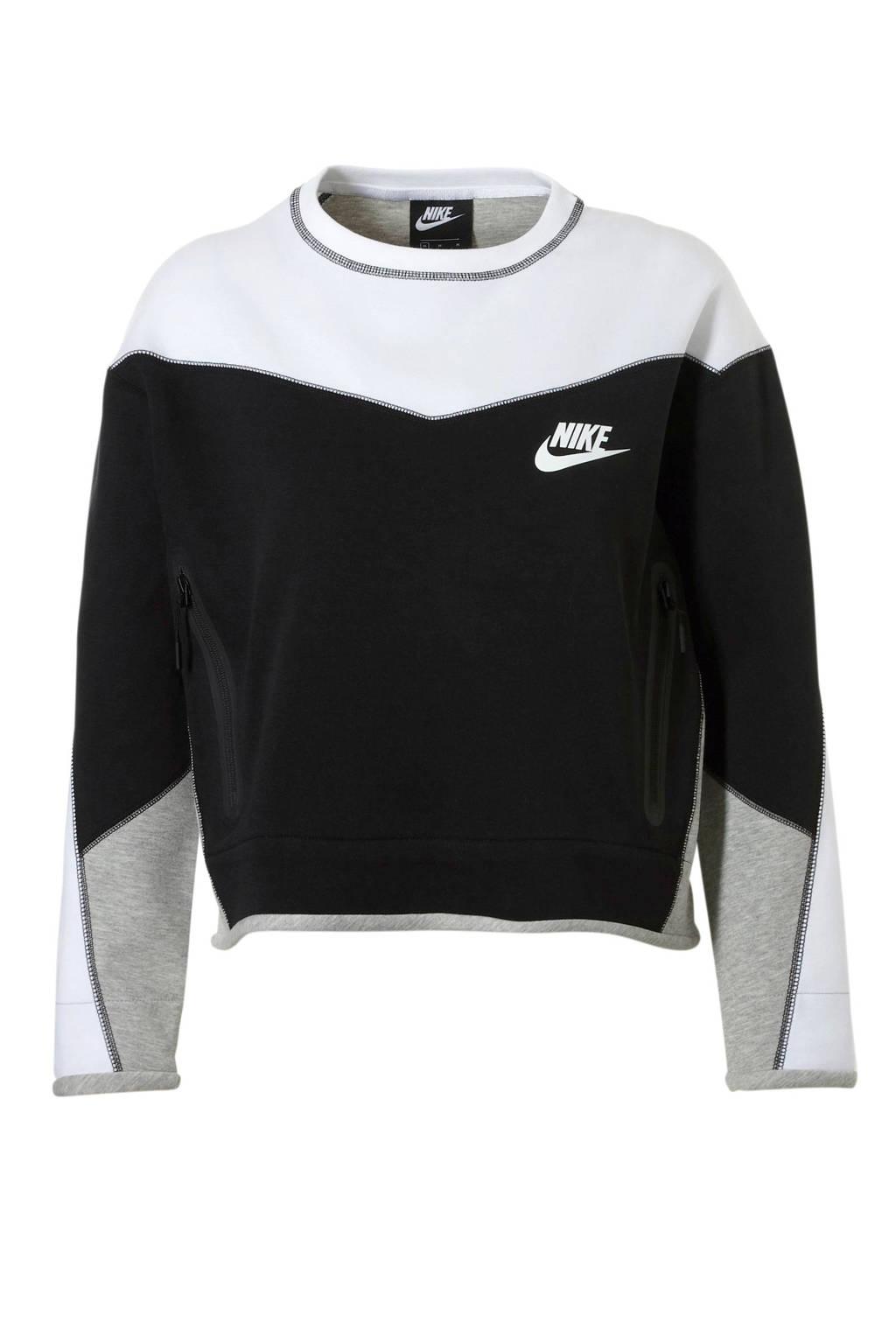 Nike sweater zwart/wit, Zwart/wit