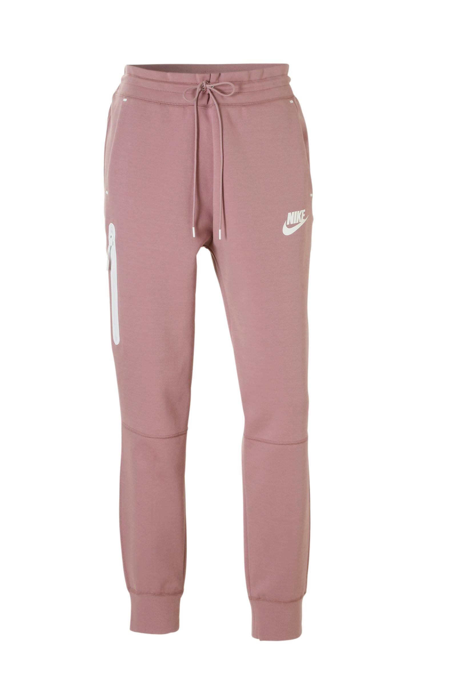 Tech Fleece regular fit joggingbroek met logo roze