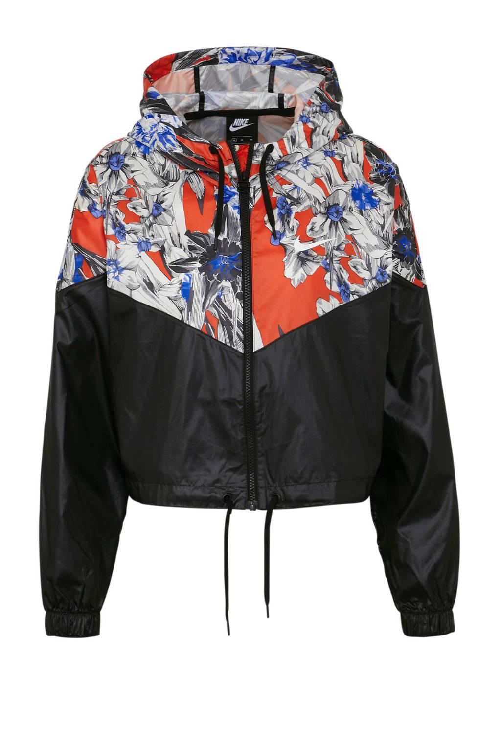 Nike jack, Zwart/wit/oranje/blauw