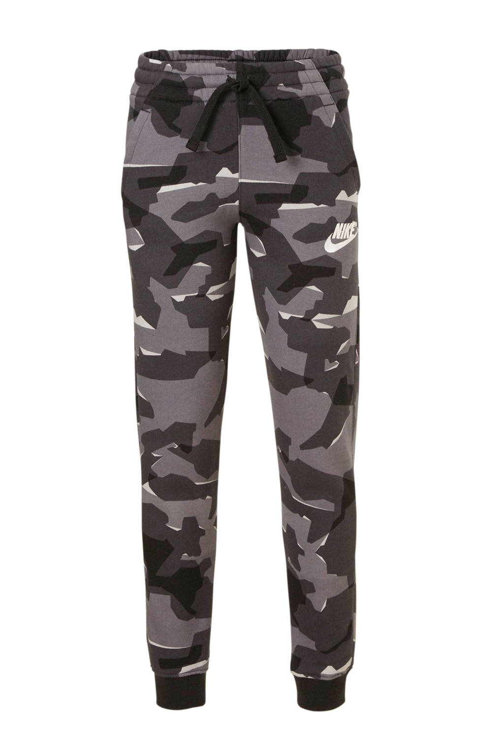 Nike   joggingbroek camouflage grijs, Grijs/zwart