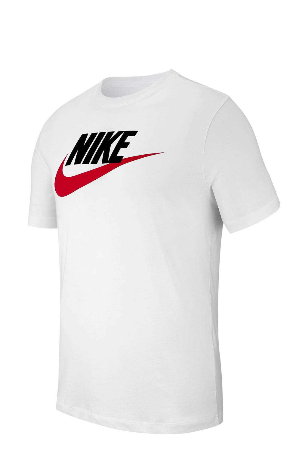 Nike T-shirt, Wit/zwart/rood