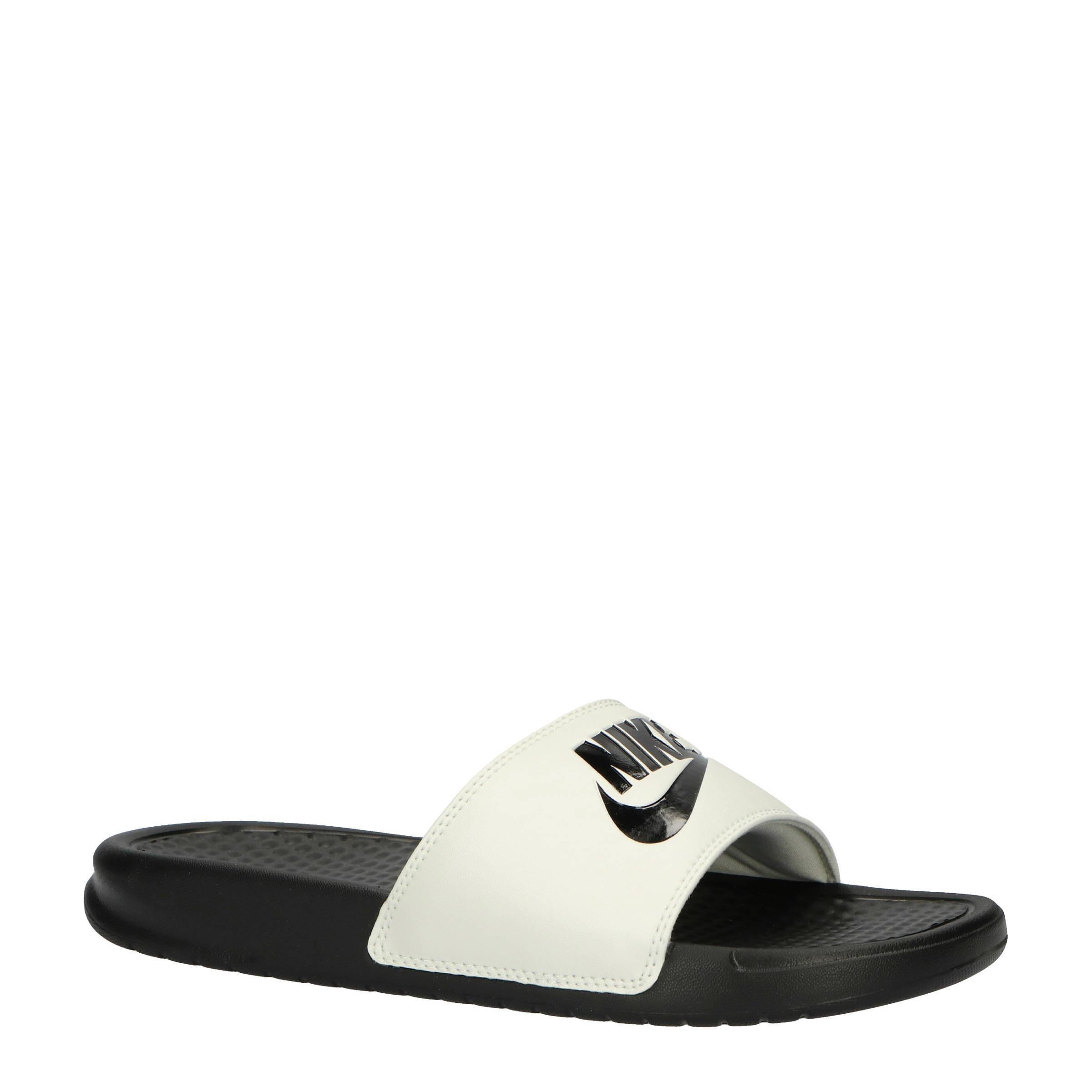 d32e8ac0b77 Nike slippers Benassi JDI zwart/wit | wehkamp