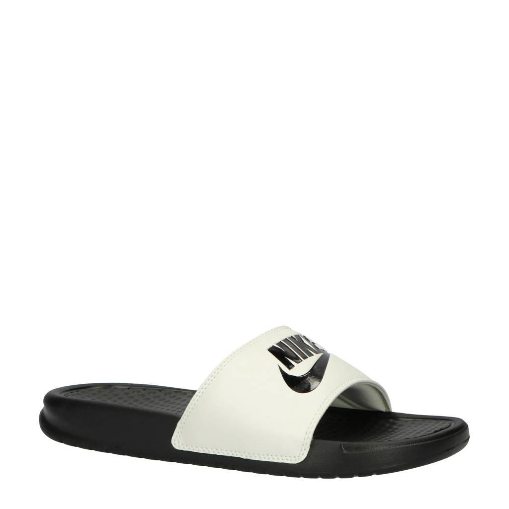 Nike   slippers Benassi JDI zwart/wit, Zwart/wit
