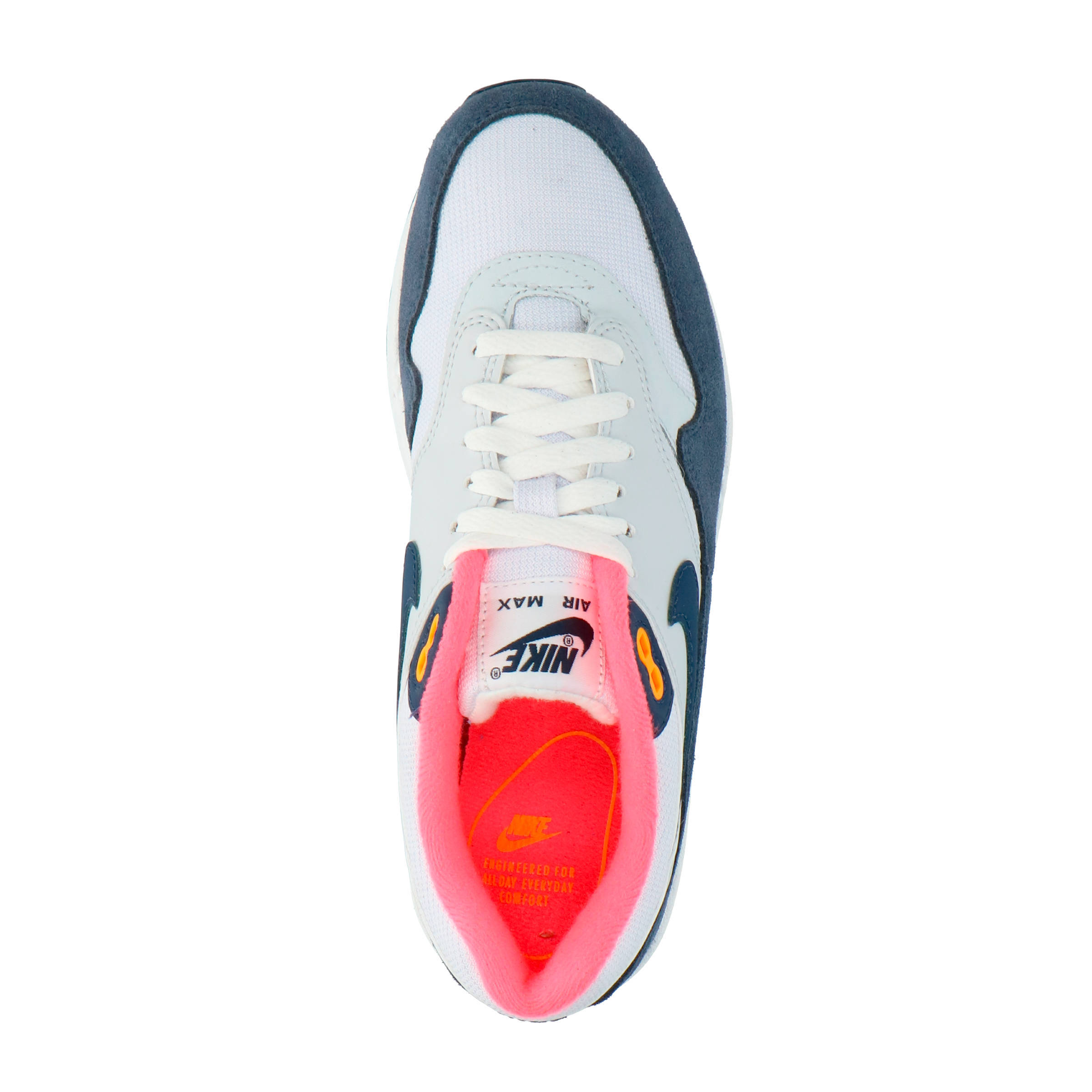 Max Nike Air 1 Wit Sneakers roze blauw D2HIW9E