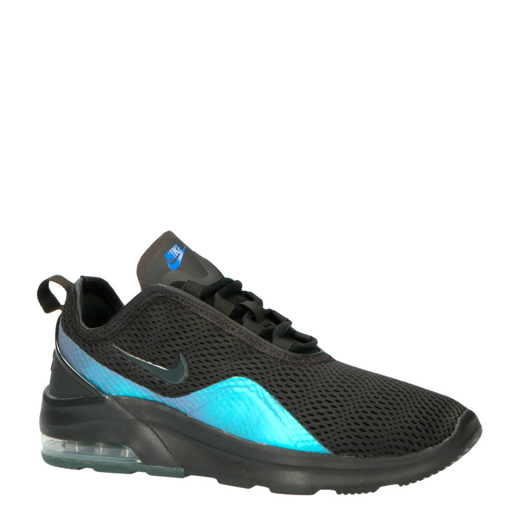 Nike Air Max Motion 2 sneakers zwart/metalic blauw, Zwart/metallic blauw