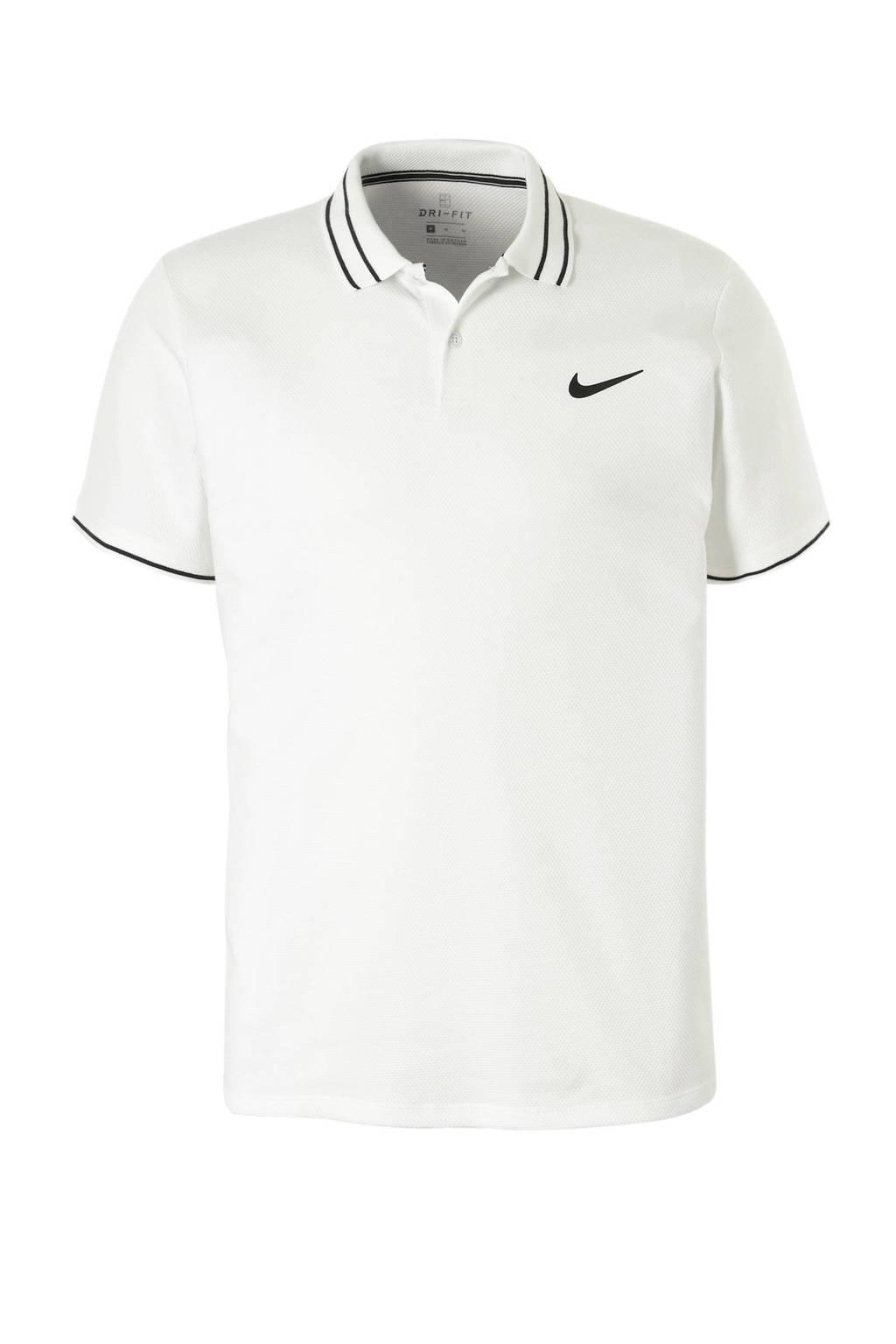 Nike   sportpolo pique, Wit/zwart