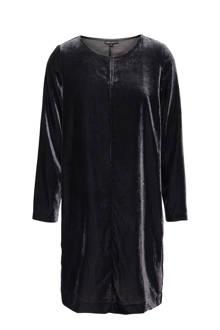 fluwelen jurk antraciet