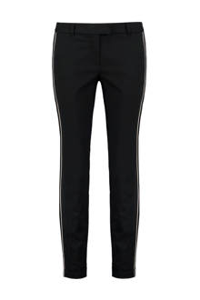 slim fit pantalon Zone zwart