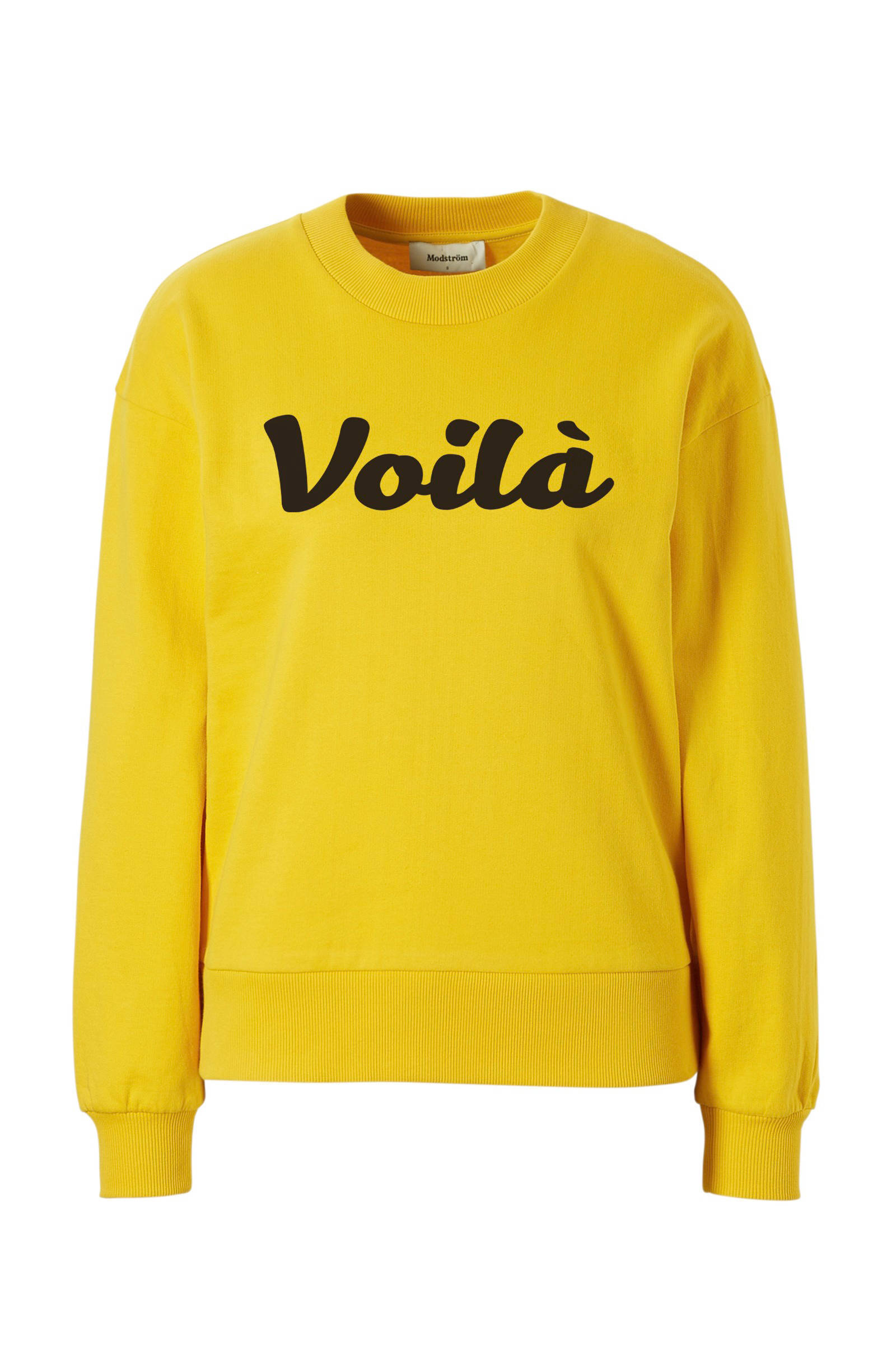 gele sweater dames