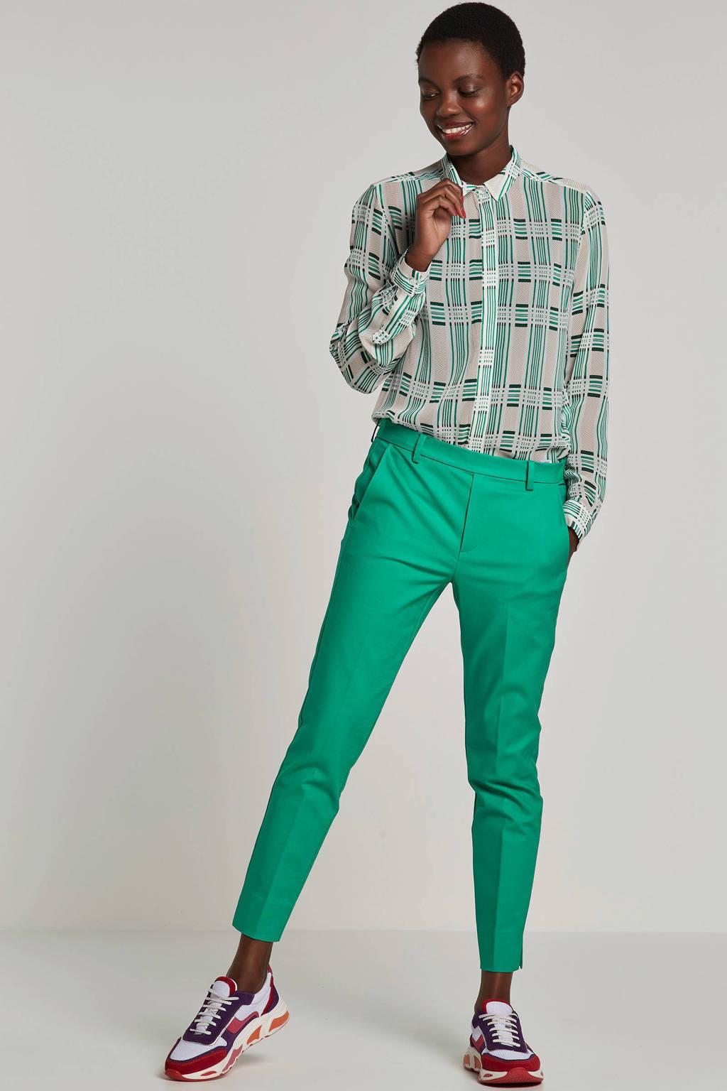 Inwear blouse Hayden met ruitprint, Groen