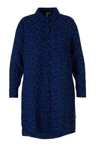 lange blouse met panterprint