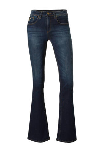 high rise flared fit jeans