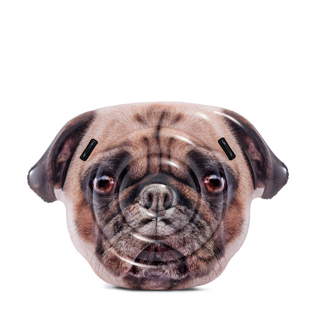 Intex luchtbed Pug Face hond