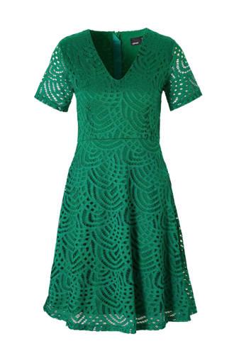 gevoerde kanten jurk