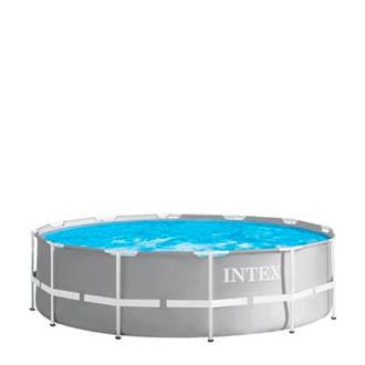 Prism Frame Ø305 X 76 cm grijs opzetzwembad met pomp