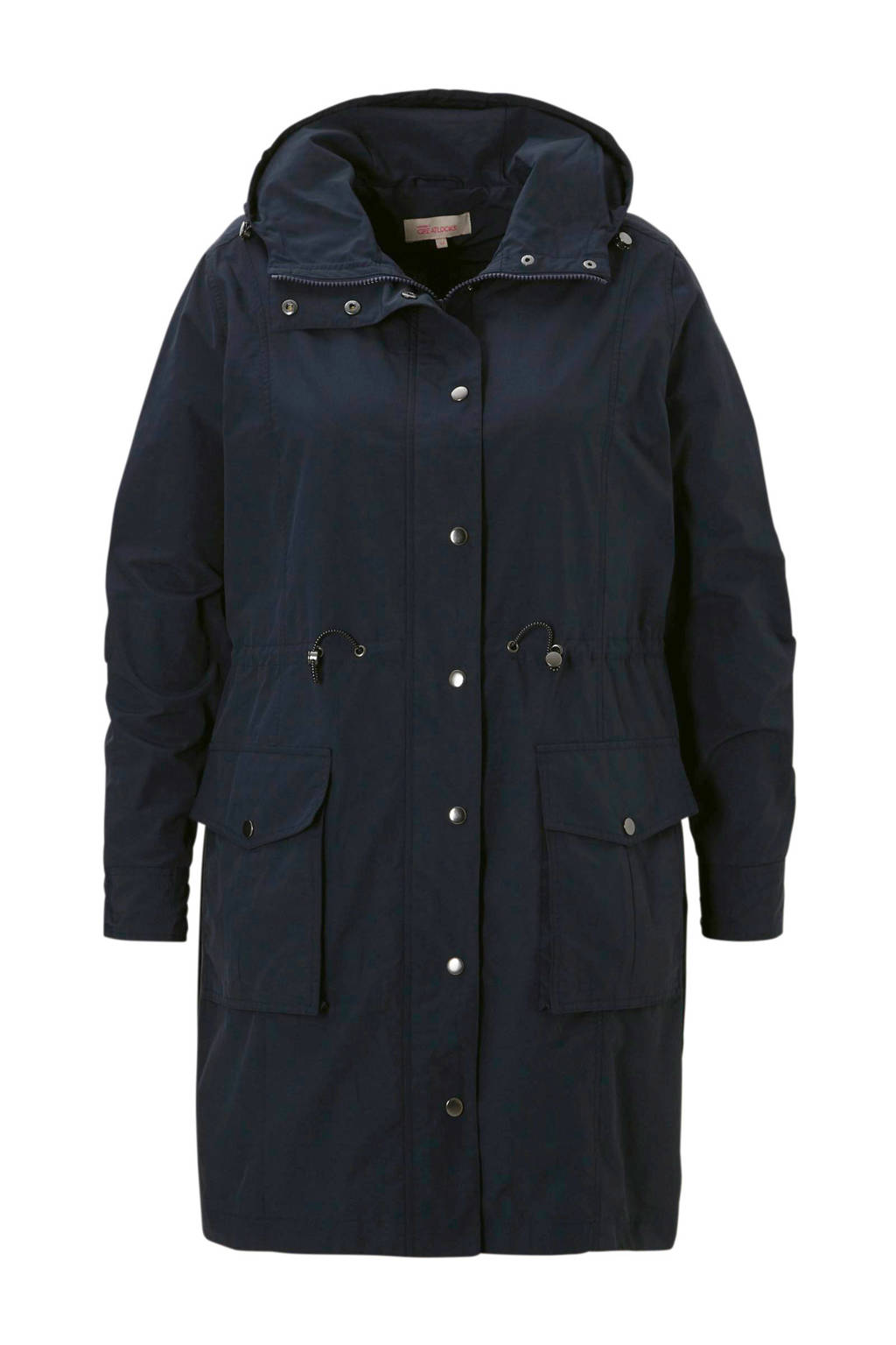 whkmp's great looks parka met capuchon, Donkerblauw