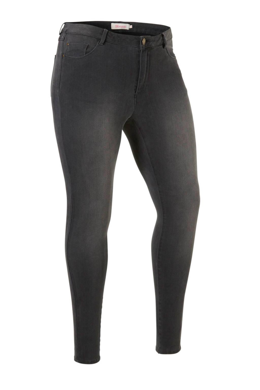 whkmp's great looks skinny jeans, Donkergrijs