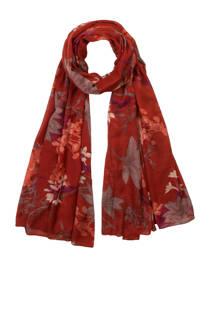 Miss Etam sjaal met bladeren rood