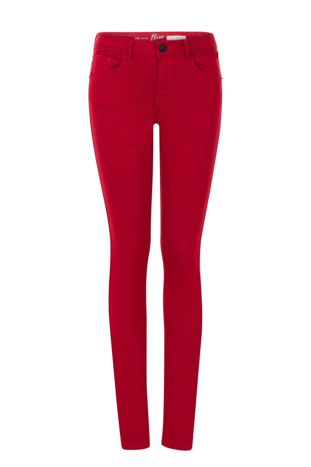 Miss Etam Lang slim fit jeans 36 inch rood, Rood