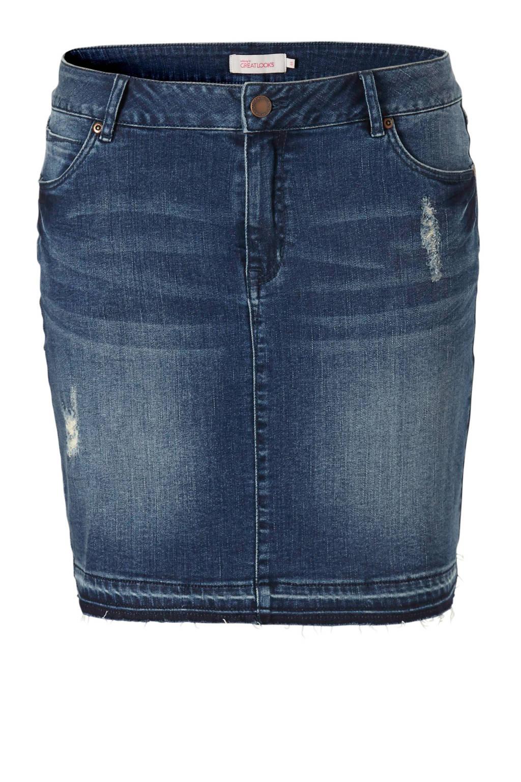 whkmp's great looks spijkerrok, Dark blue denim