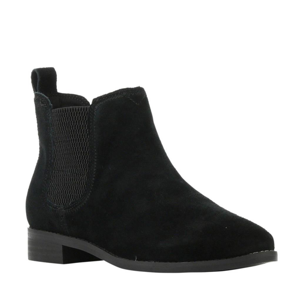 Toms suède chelsea boots zwart, Zwart