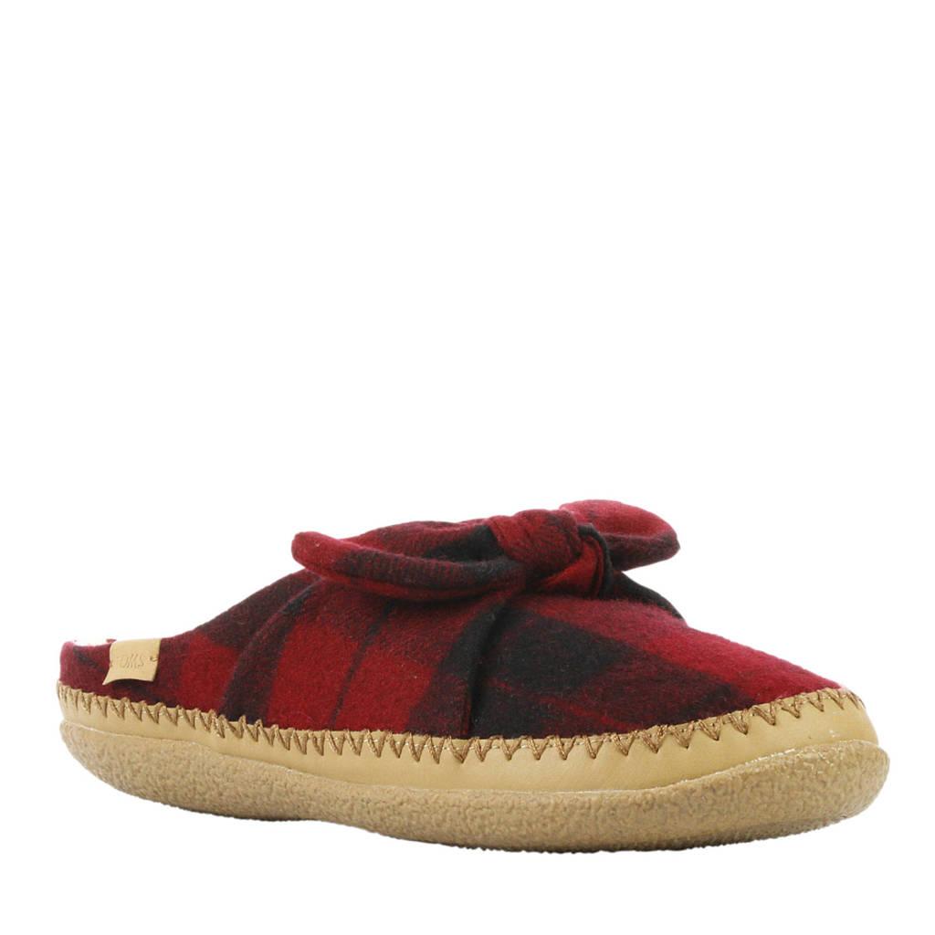 Toms pantoffels rood, Rood