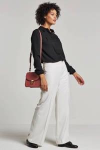 whkmp's own blouse van gerecycled polyester zwart, Zwart