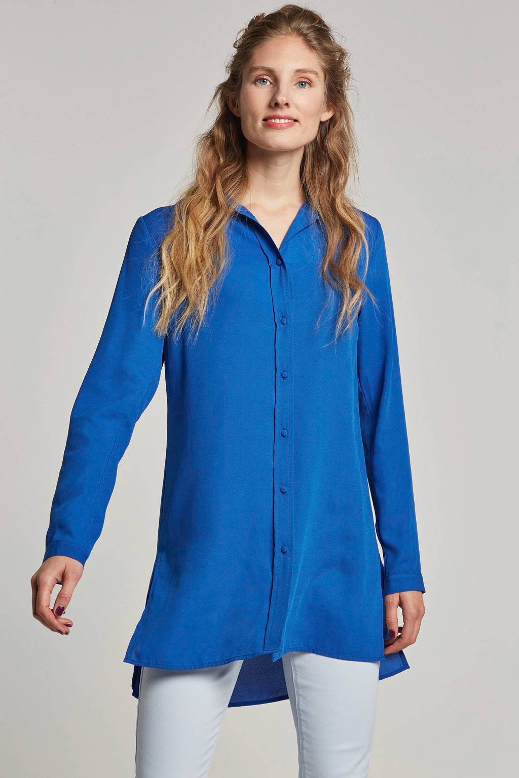 whkmp's own gerecycled polyester blouse (Waste2Wear), Kobaltblauw