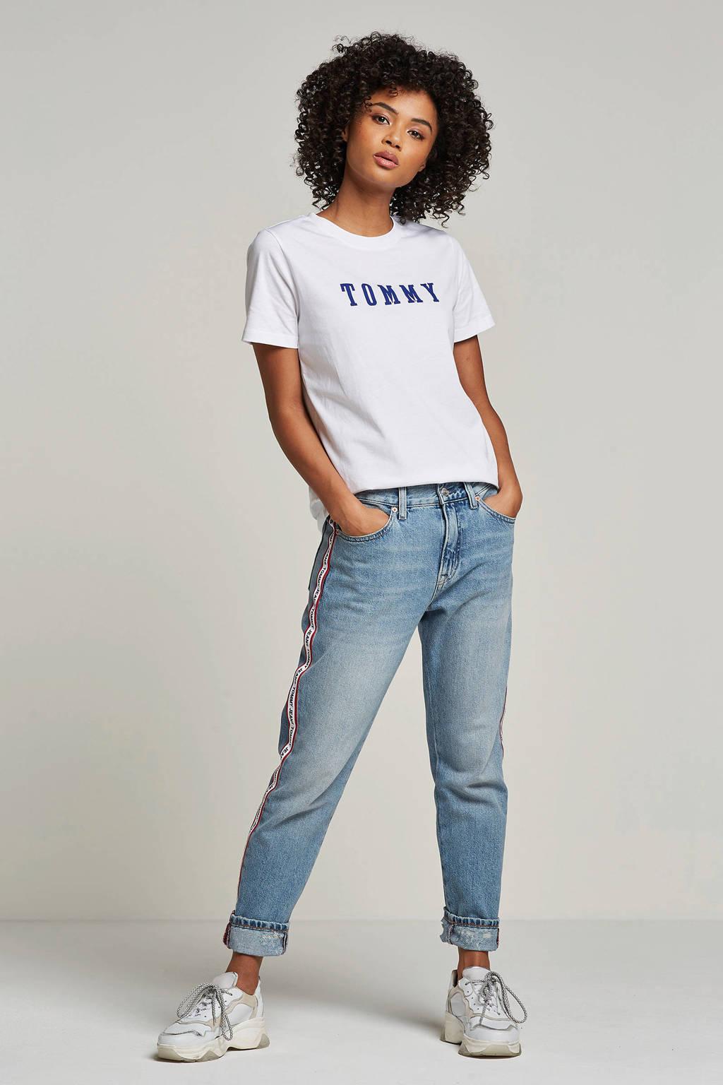 Tommy Hilfiger T-shirt Holli met logo opdruk, Wit