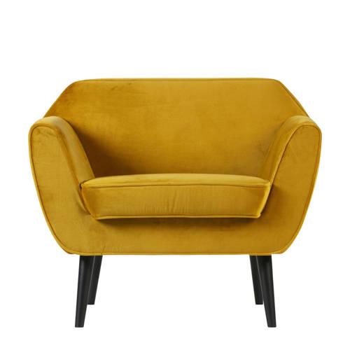 Woood fauteuil Rocco velours kopen