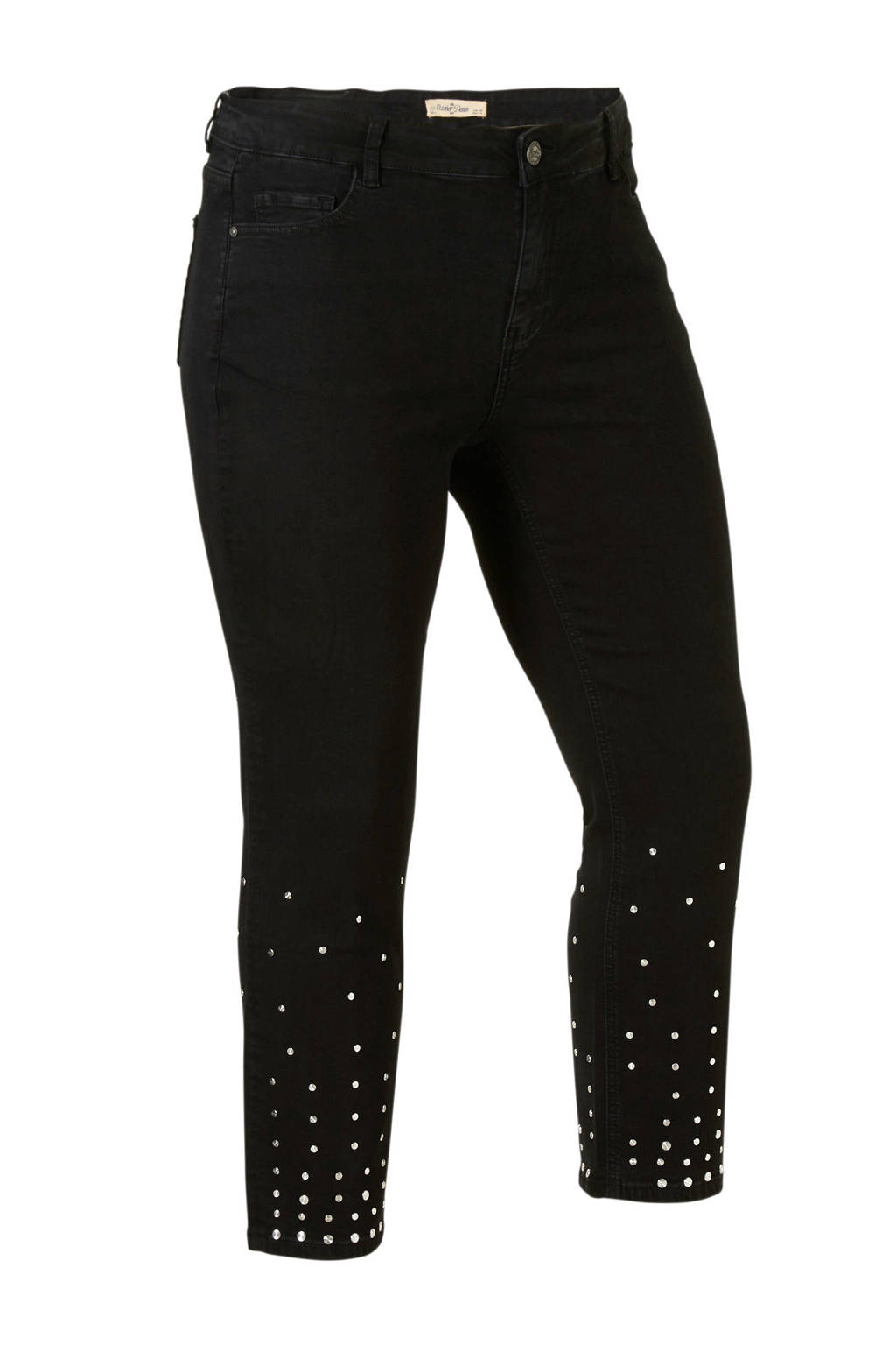 October jeans met studs, Zwart