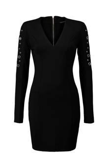 jurk met studs zwart