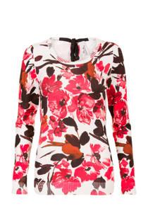 Miss Etam Regulier trui met bloemen print rood (dames)