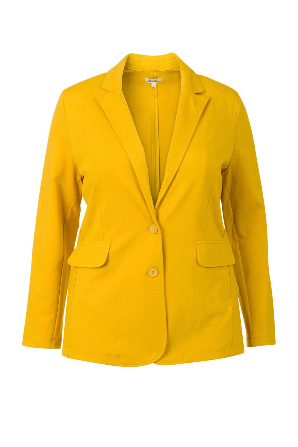 Miss Etam Plus blazer geel, Geel