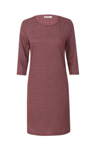 Regulier jurk met print paars