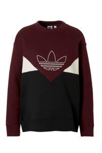 adidas originals sweater aubergine (dames)
