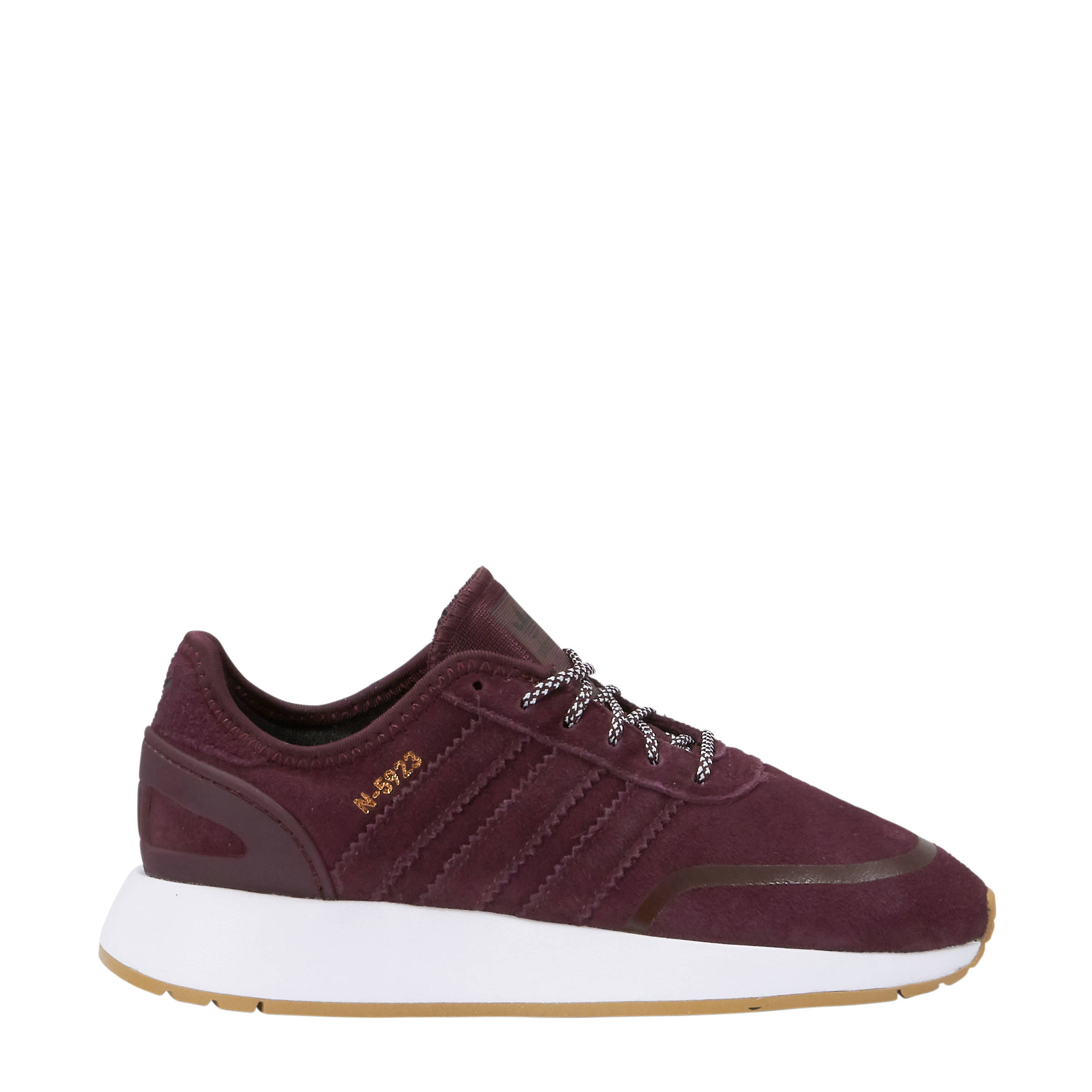 N 5923 J suède sneakers bordeauxrood