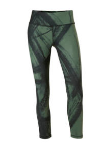 Reebok 7/8 sportlegging groen/zwart (dames)