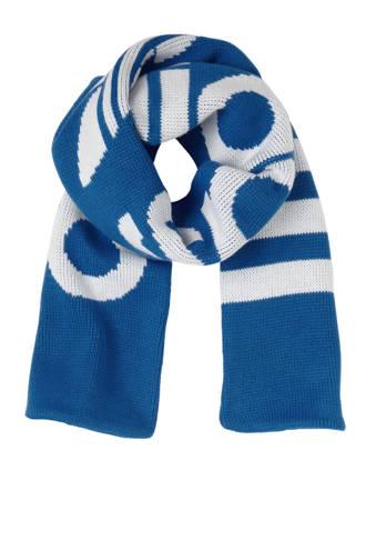 originals gebreide sjaal blauw