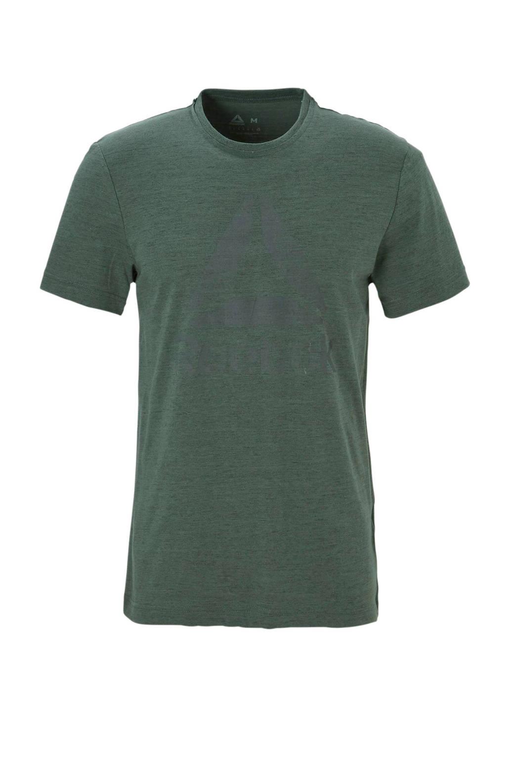 Reebok   sport T-shirt donkergroen, Donkergroen