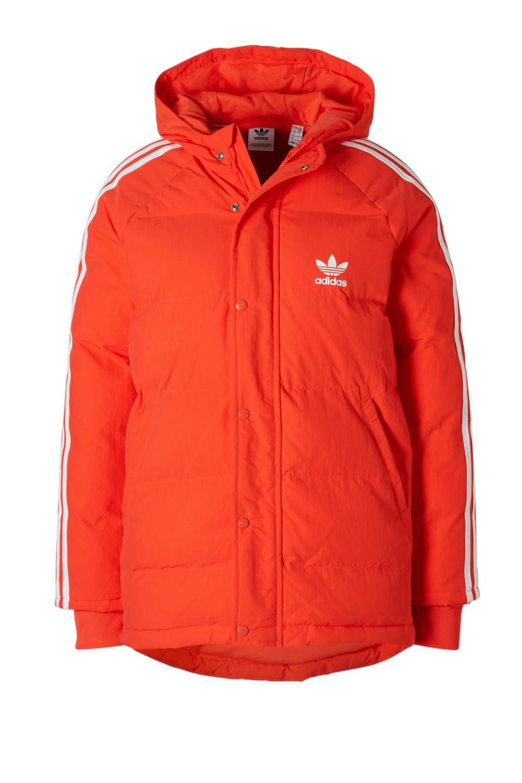 adidas originals winterjas oranje, Oranje/wit
