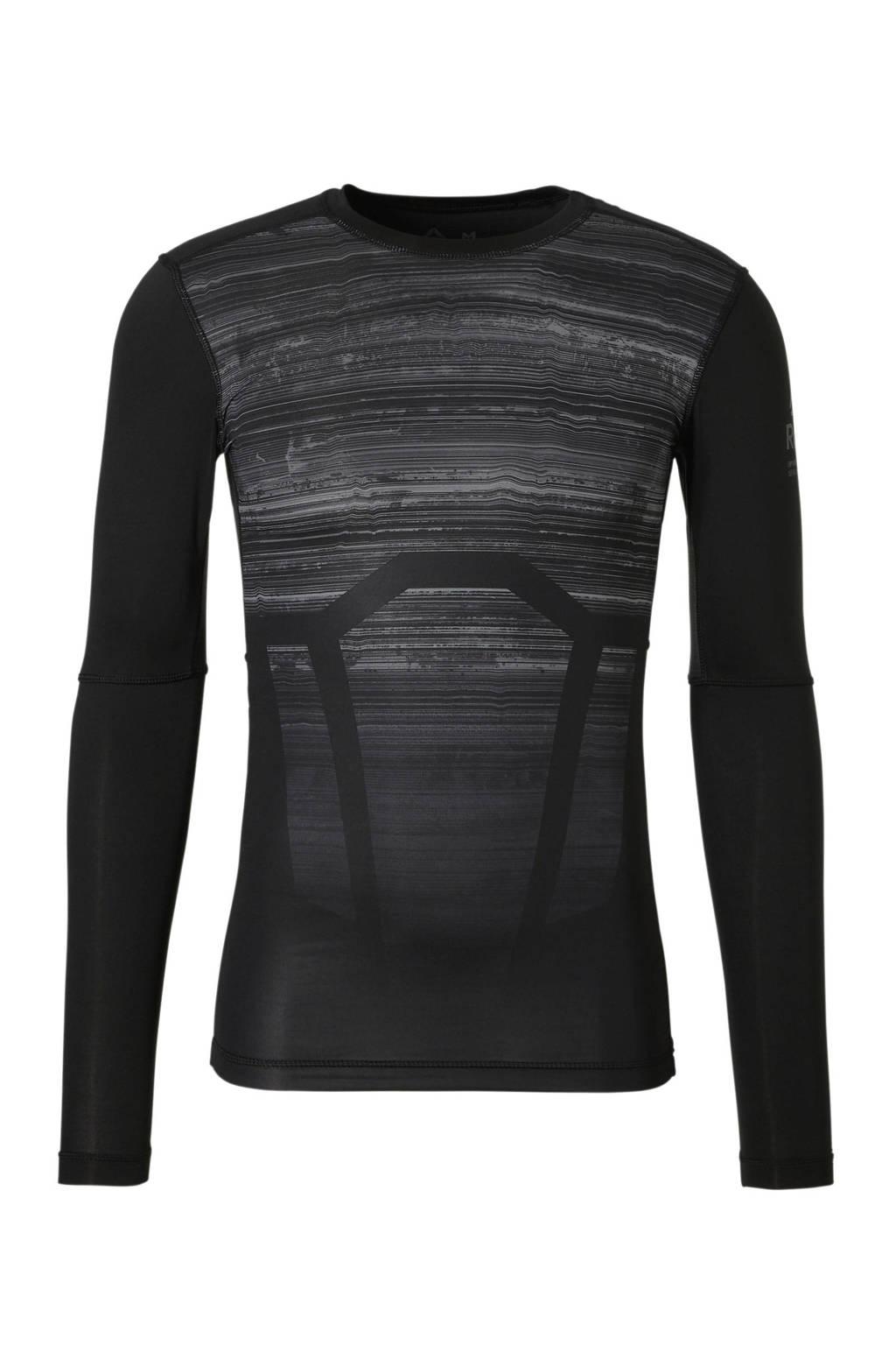 Reebok   sport T-shirt zwart-grijs, Zwart/grijs