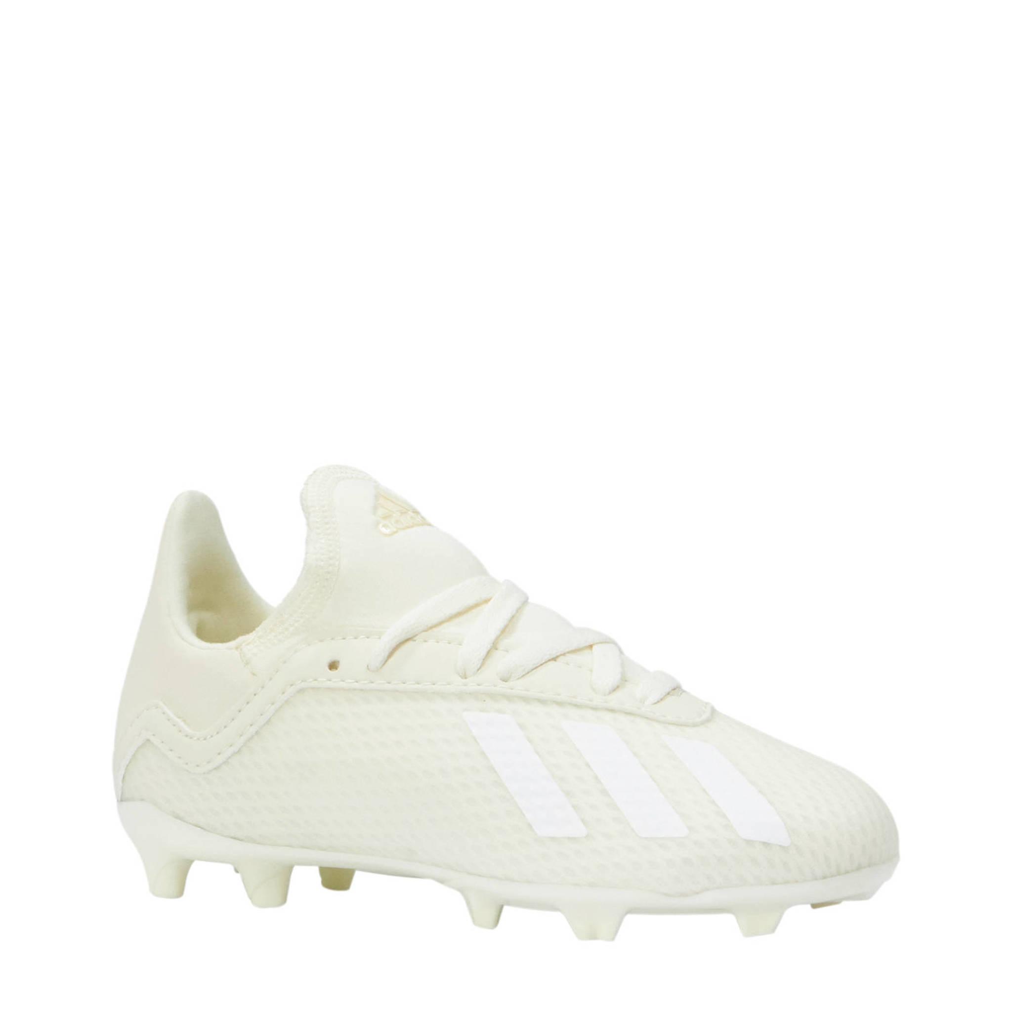 a5f3330dcf3 adidas performance X 18.3 FG J voetbalschoenen gebroken wit | wehkamp