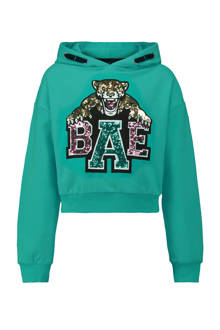 cropped hoodie turquoise