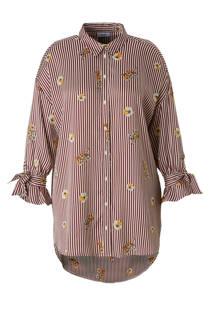 C&A XL Yessica gestreepte tuniek met strepen donkerrood (dames)