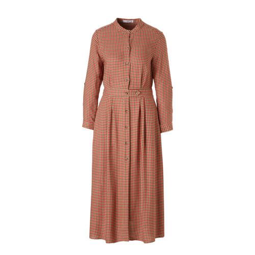 geruite jurk beige rood, Dames jurk van Mango, uitgevoerd in soepelvallende linnenblend met ruitprint. Het wijd uitlopende model heeft een mao kraag, lange mouwen met manchetten en lusjes om ze op te stropen een een knoopsluiting aan de voorkant. Lengte 119 cm bij maat SExtra gegevens:Merk: MangoKleur: BruinModel: Jurk (Dames)Voorraad: 3Verzendkosten: 0.00Plaatje: Fig1Plaatje: Fig2Maat/Maten: XSLevertijd: direct leverbaar